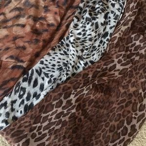 Accessories - Lot of 3 Long animal print scarves